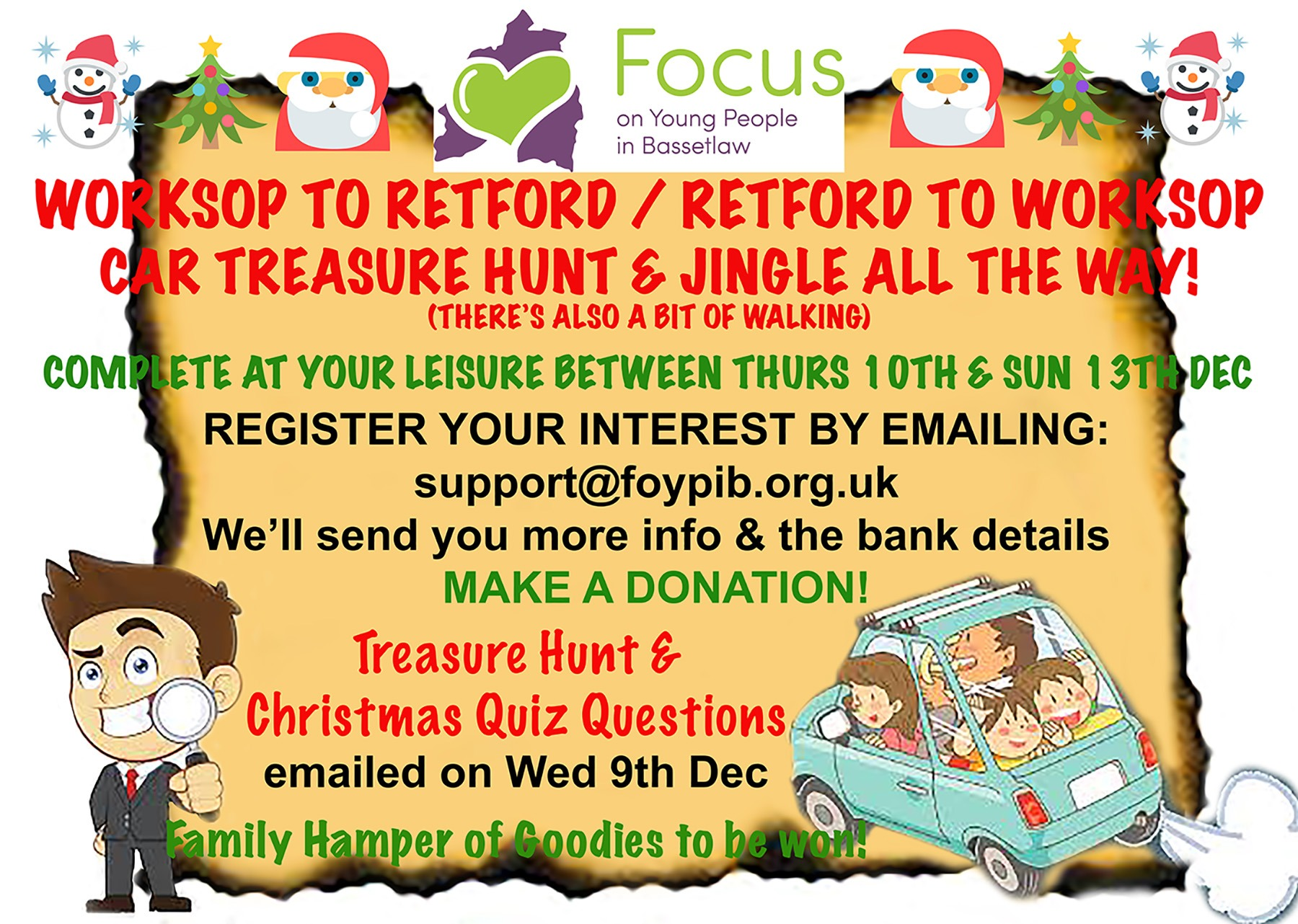 Car Treasure Hunt & Christmas Quiz