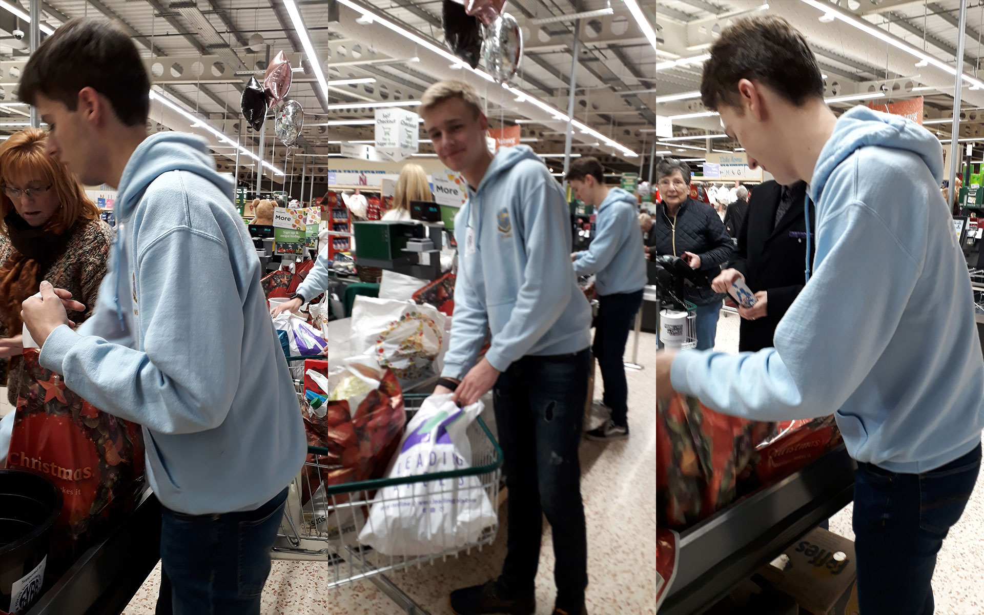 Bag packing at Morrison's